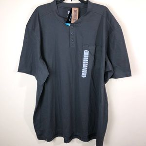 DULUTH TRADING CO Longtail CoolMax Henley Tshirt